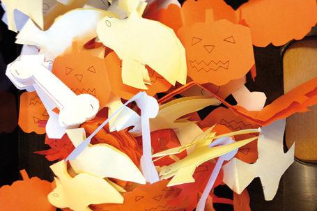Halloween Papierketten Deko