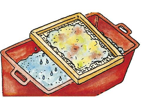 Anleitung: Papierschöpfen mit dem Papierschöpfrahmen