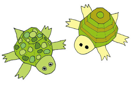 Schildkröten aus Eierkartons basteln