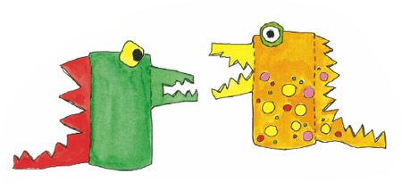 Drachen aus Papprollen - Papprollen-Tiere PDF