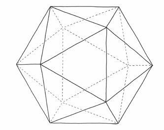Ikosaeder - Polyeder - Geometrische Körper
