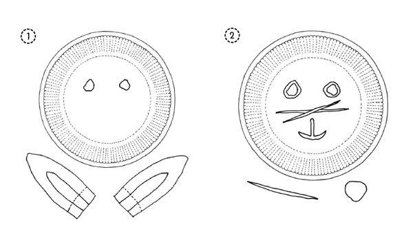 Hasen-Maske aus Papptellern basteln