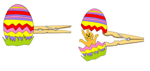 Anleitung - Eier-Hase basteln