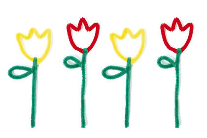 Tulpen aus Pfeifenputzern