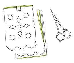 Anleitung zur Herstellung von mexikanischen Papel Picado Girlanden