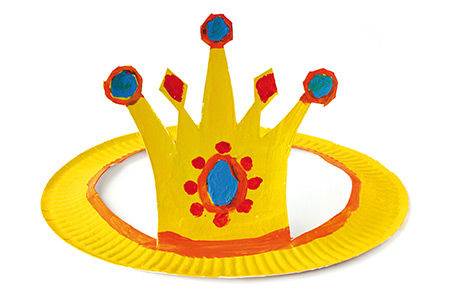 Witzige Pappteller-Hüte