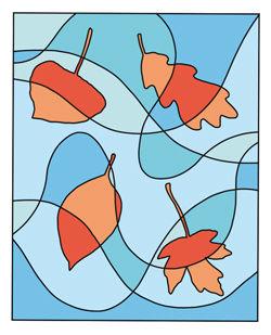 Fallende Herbstblätter Anleitung - Kalt-Warm-Kontrast
