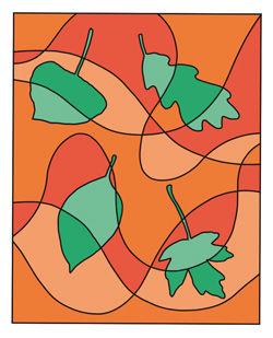 Fallende Herbstblätter Anleitung - Komplementär-Kontrast