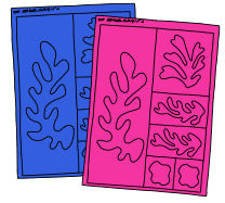 Matisse - Scherenschnitt Collagen - Anleitung