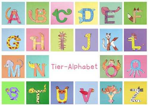 Tier-Alphabet - Anleitung