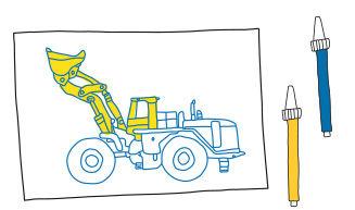 Tracing - Baufahrzeuge - Anleitung