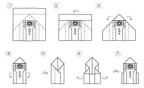 Origami-Fahrzeuge falten
