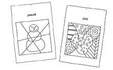 Anleitung -Pop-Art Monatsblätter