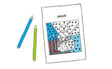 Anleitung - Pop-Art Monatsblätter