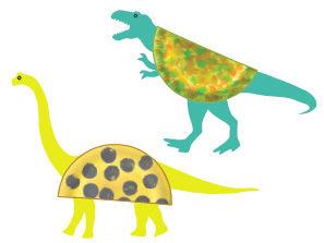 Dinosaurier aus Papptellern basteln