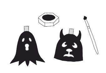 Anleitung - Grusel-Girlande für Halloween basteln