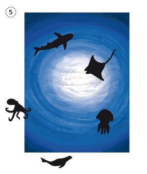 Anleitung - Ozeantiere - Arbeiten mit Tiefeneffekten