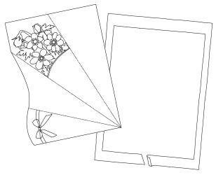 Anleitung - Falt-Blumensträuße aus Papier zum Ausmalen, Ausschneiden und Falten