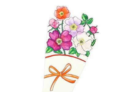 Kleiner Falt-Blumensträuße aus Papier