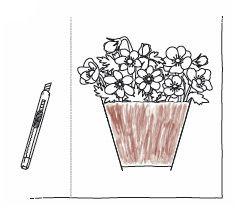 Anleitung - Blumentöpfe mit Blumen zum Ausmalen