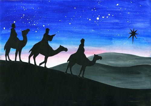 Heilige Drei Könige - Collagen Kunstunterricht
