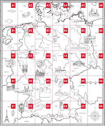 Deutschland Wandkarte