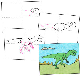 Geleitetes Zeichnen - Schritt für Schritt