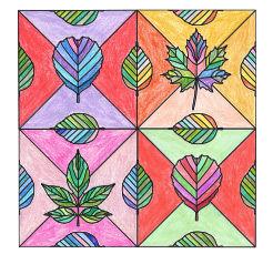 Anleitung - Herbstliches Blätter-Mosaik