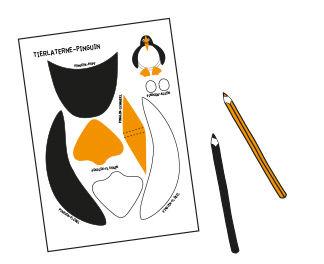 Pinguin-Laterne basteln