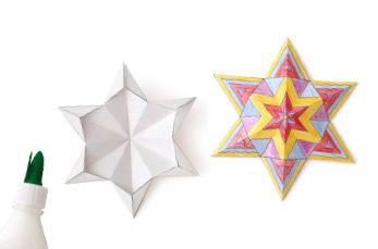 3D Penta-Sterne basteln