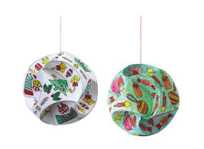 Weihnachtskugeln aus Papier basteln