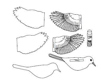 Anleitung - Singvoegel aus Papier basteln