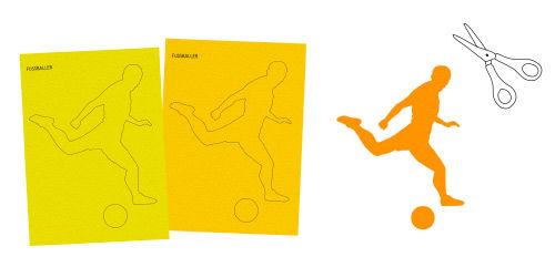 Anleitung - Collagen aus Sport-Silhouetten basteln mit Kindern