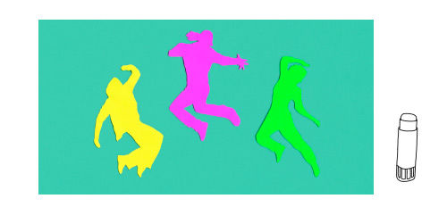 Anleitung - Street Dance-Collagen basteln mit Kindern