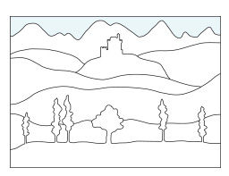 Landschaften malen mit der Farbperspektive - Anleitung
