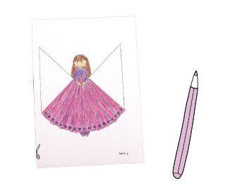 Anleitung zum Basteln von Prinzesinnen-Lesezeichen
