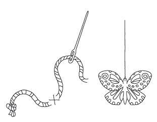 Anleitung - Schmetterlinge aus Papier