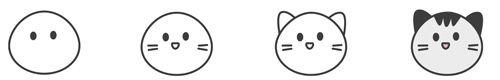 Süße Kawaii-Katze zeichnen - Schritt für Schritt