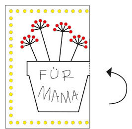 Klappkarten basteln zum Muttertag - Anleitung