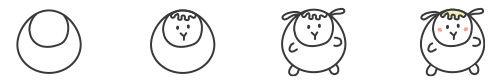 Süßes Kawaii-Schaf zeichnen - Schritt für Schritt