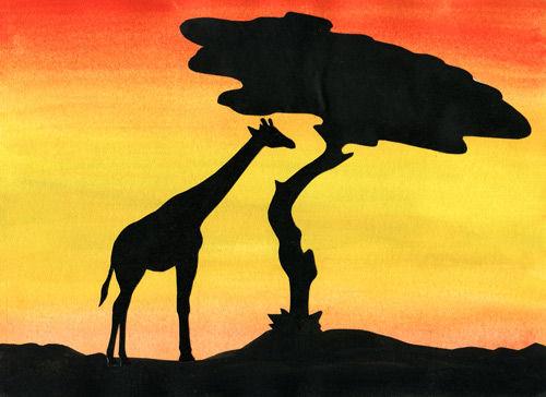 Safari - Arbeiten mit warmen Farben