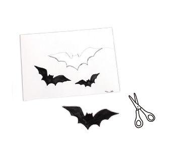 Pappteller Silhouetten für Halloween basteln mit Kindern