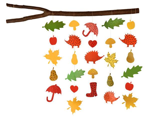 Herbstketten aus Papier basteln mit Kindern