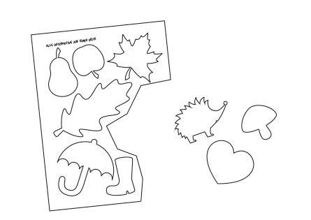 Herbst-Papierketten basteln mit Kindern