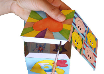 Pop-Art Würfel basteln mit Kindern