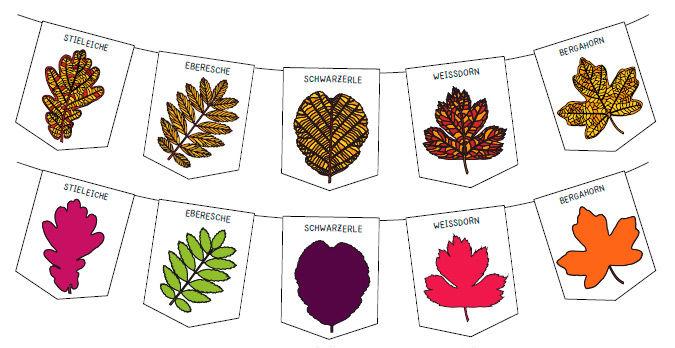 Wimpelketten basteln für den Herbst
