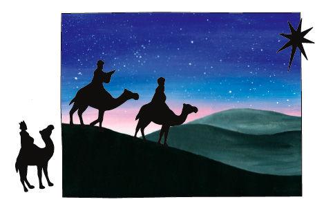 Beeindruckende Collagen basteln zur Geschichte der Heiligen Drei Könige