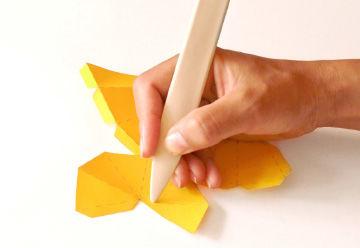 Papierkristalle basteln als Weihnachtsschmuck