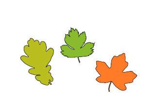 Witzige Blätter-Frisuren kleben für Kinder