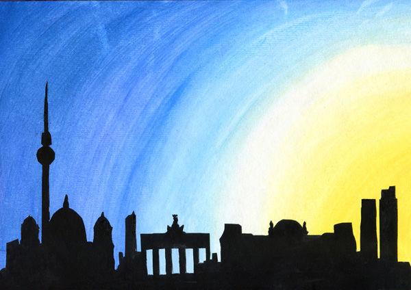 Skyline-Silhouette - Berlin